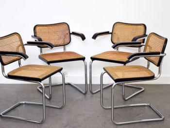 4 chaises S64, Marcel Breuer, Thonet
