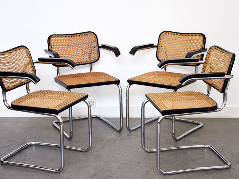 Set of 4 S64 chairs by Marcel Breuer for Thonet