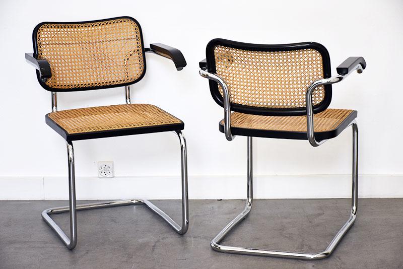 marcel breuer 4 chaises s64 thonet design vintage lausanne suisse. Black Bedroom Furniture Sets. Home Design Ideas
