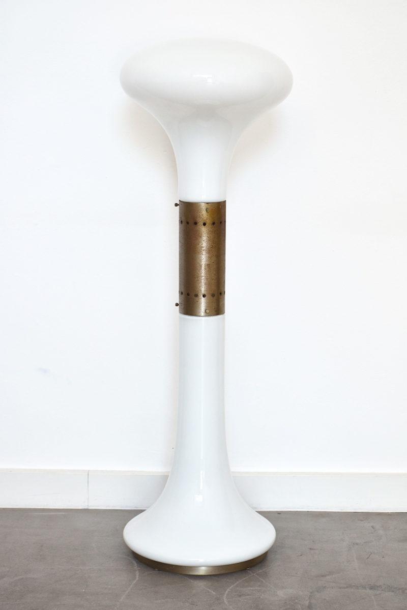 Lampe sur pied en verre soufflé de Murano, Carlo Nason, Mazzega, 1960.