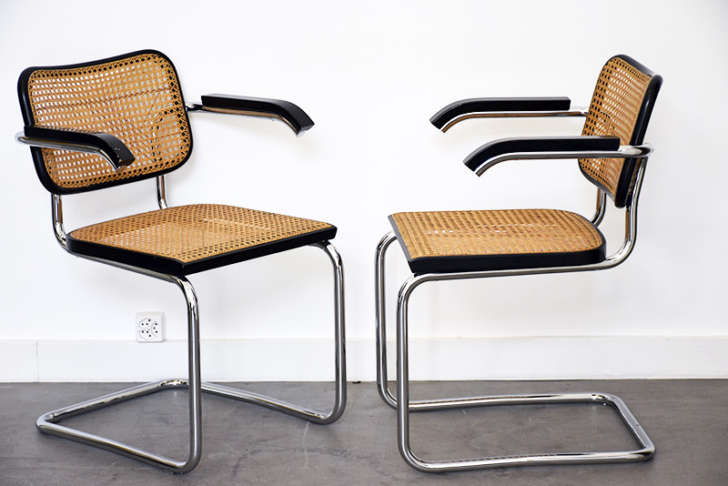 marcel breuer 4 chaises s64 thonet design vintage lausanne suisse. Black Bedroom Furniture Sets. Home Design Ideas