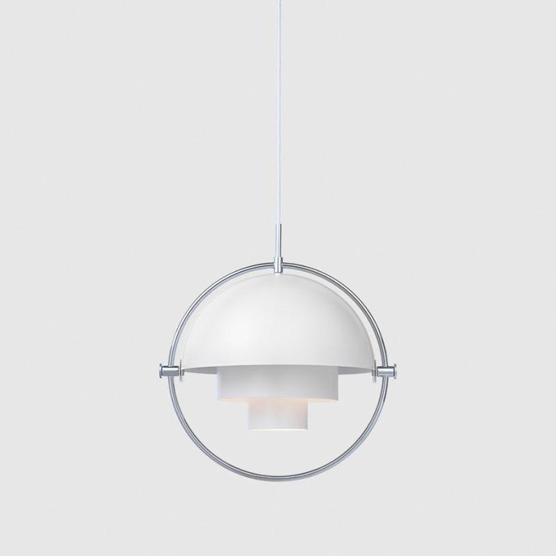 Suspension Multi-lite, Louis Weisdorf, Gubi. Blanc / Chrome
