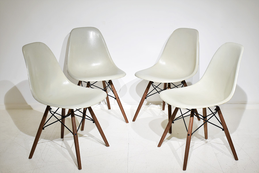 Chaises DSW Vintage Charles Ray Eames Herman Miller Vitra