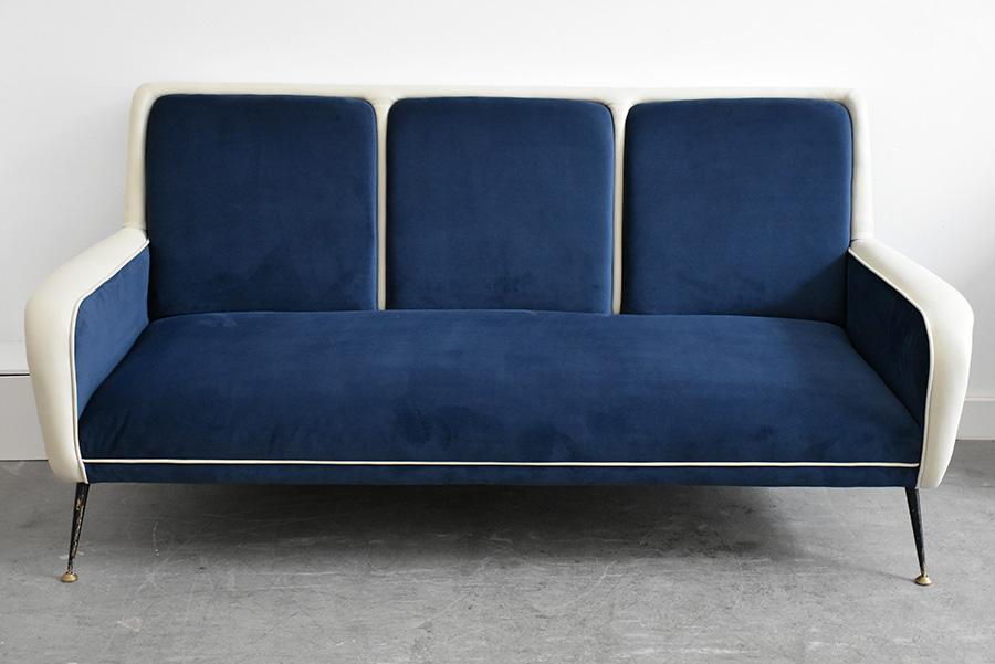 50er jahre sofa gio ponti stil lausanne schweiz for Couch 50er jahre stil