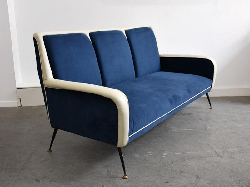 3-Sitzer Sofa in der Art von Gio Ponti, italienisches Design aus den 50er Jahren