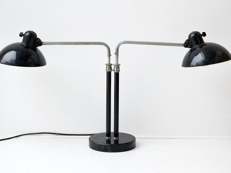 double arms lamp, design Christian Dell, Kaiser Idell, 1930