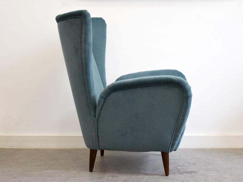 Sessel in der Art von Paolo Buffa, italienisches Design aus den 50er Jahren