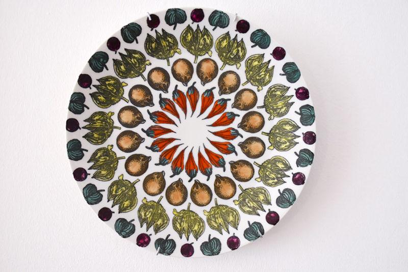 Set of 5 Giostra di frutta plates, Piero Fornasetti