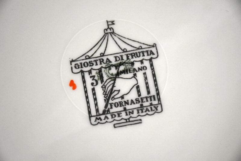 Giostra di frutta, signature Piero Fornasetti, Fornasetti Milan, ca. 1950