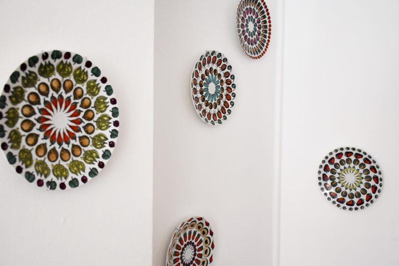 Set of 5 Giostra di frutta plates | Piero Fornasetti