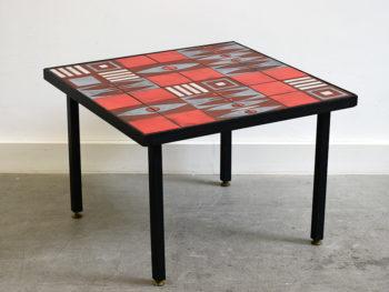 Table basse en céramique dans le goût de Capron, ca. 1960