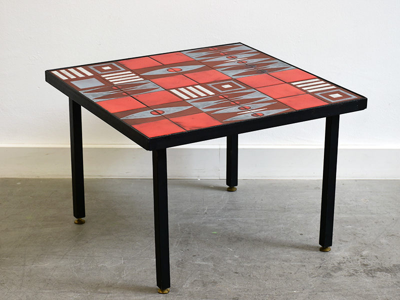 Ceramic coffee table in the style of Capron, ca. 1960