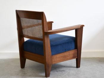 Sessel in der Art von Pierre Jeanneret, Französisches Design, ca. 1950