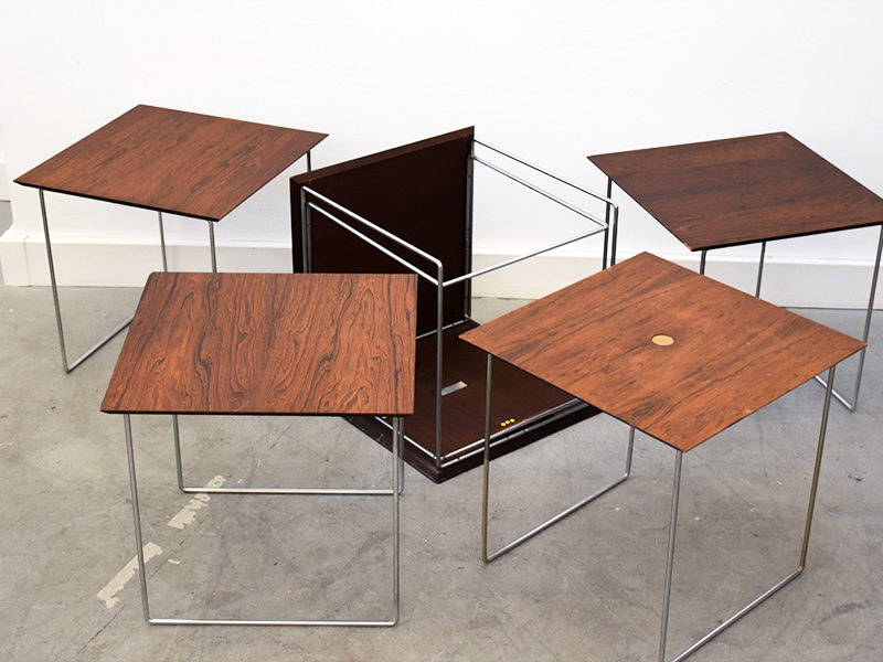 Nesting tables Magic Puzzle Cube, Poul Norreklit, Pedersen