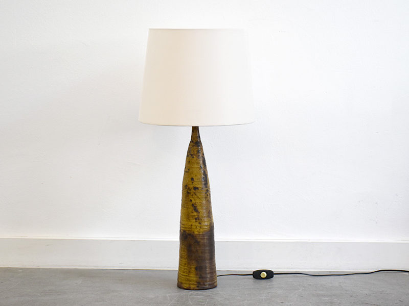 Ceramic table lamp, French design, ca. 1950
