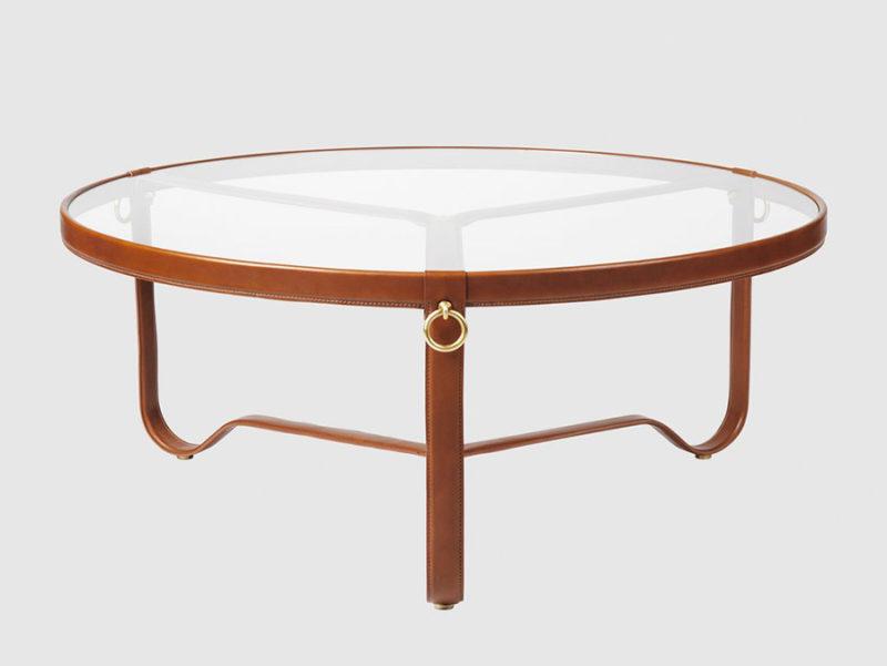 Table Circulaire, cognac, ø100 cm, Jacques Adnet, Gubi