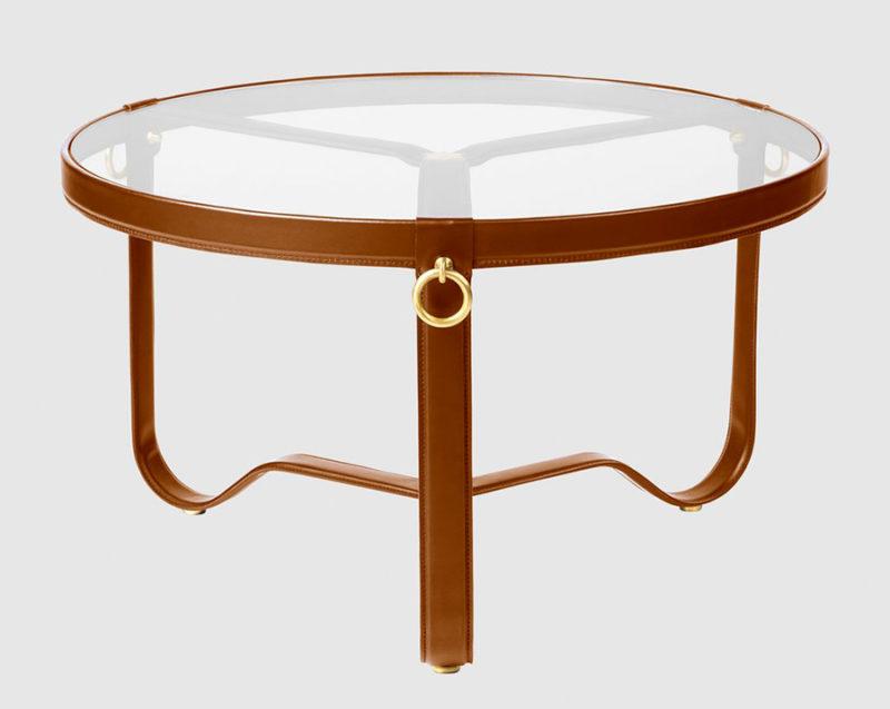 Table Circulaire, cognac, ø73 cm, Jacques Adnet, Gubi,