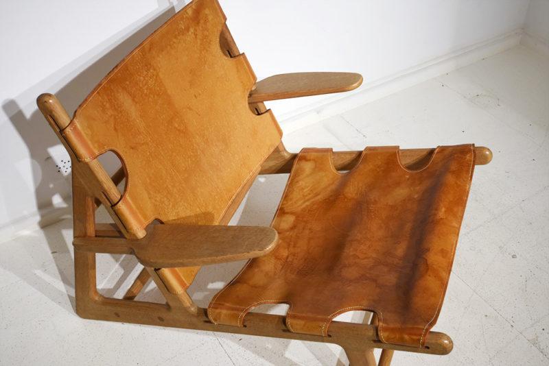Cuir, Hunting Chair, Borge Mogensen