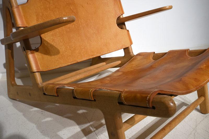 Détail fauteuil Hunting, Borge Mogensen